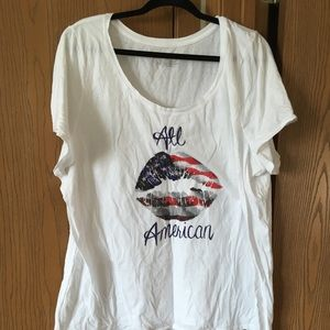 White T-Shirt, All American